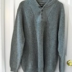 MEN'S EDDIE BAUER GRAY LONG SLEEVE SWEATER
